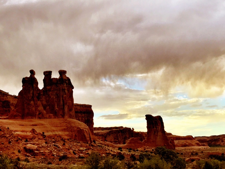 Stormclouds over Arches National Park