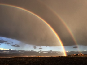 The other side of the rainbow, Arches National Park, Utah