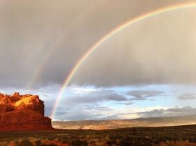 Rainbow at Arches National Park, Moab Utah
