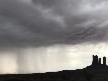 Rainstorm over Monument Valley, Utah-Arizona border