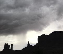 Light and dark, Monument Valley, Utah-Arizona border